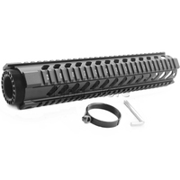 AR 15 M4 Tactical Mid Length 12 inch Free Float Handguard Picatinny Tube With End Cap