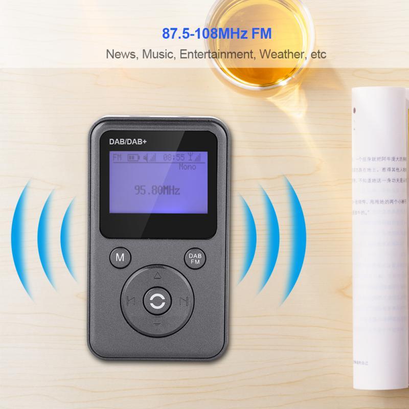 Tragbares Audio & Video Unterhaltungselektronik Mini Handheld Digital Fm Radio Tragbare Fm Band Digital Pocket Empfänger Lautsprecher Für Walkman Mit Kopfhörer 87,5-108 Mhz Symbol Der Marke Dab/dab