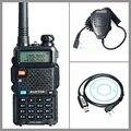 Walkie Talkie Two Way Radio Baofeng UV-5R+USB Programming Cable Driver CD+Handheld Microphone Speaker