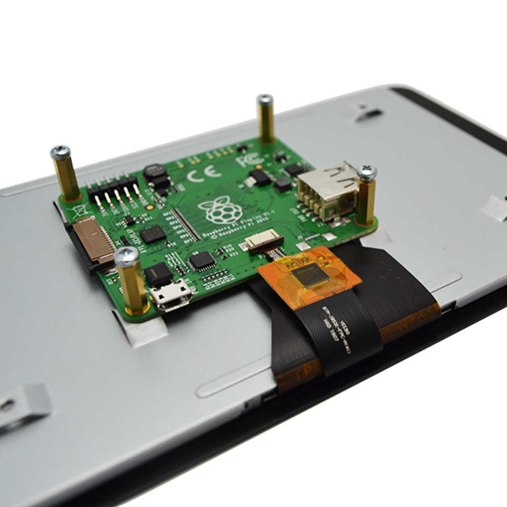 شاشة رسمية 7 بوصة تعمل باللمس لتوت العليق Pi 3 موديل B/Raspberry Pi 3 B + (B Plus)/Raspberry Pi 4