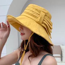 SUOGRY Fisherman Cap Складные большие шляпы с широкими полями Новые летние ветрозащитные