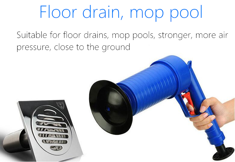 Air Power Drain Blaster Gun And High Pressure Sink Plunger And Cleaner Pump For Bathroom 4