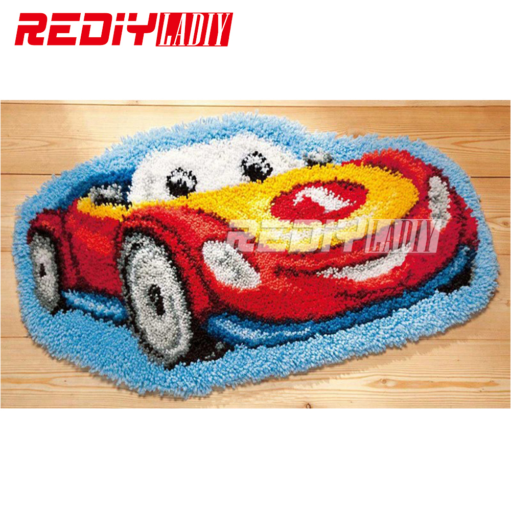 DIY Latch Hook Rug Kits Unfinished Crocheting Tapestry