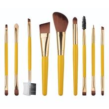 9pcs Makeup Brushes Set Blush Foundation Eyebrow Eyeshadow comb Eyeliner Lip contour Concealer Powder Brush tools kit