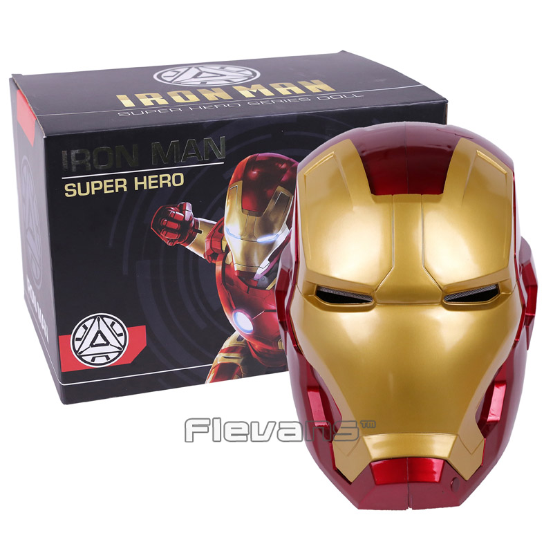 High Quality Iron Man Helmet Ring Sensor Switch Tony Stark Cosplay Mask with LED Light Collection Model For Children 2 Colors наклейки tony 2 74 alfa romeo mito 147 156 159 166 giulietta gt