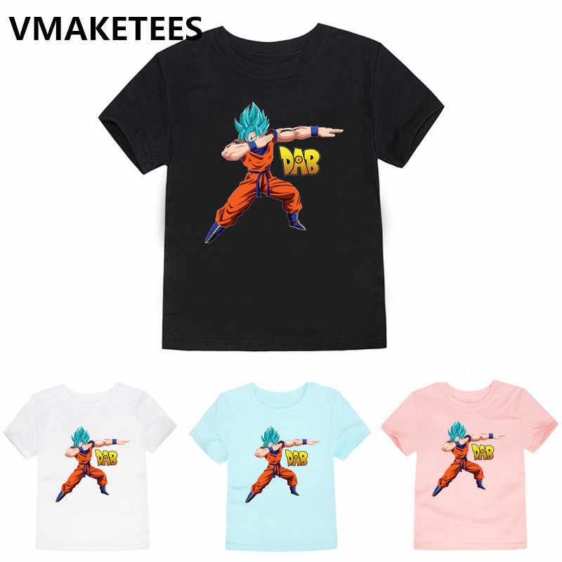 Детская футболка с изображением японского аниме «Жемчуг дракона», «Z», «Goku», Забавный летний топ для малышей, футболка, повседневная одежда для детей, HKP2184C