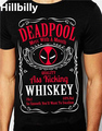 DEADPOOL WHISKY T-SHIRT Antihero Drinking Mash Up Black Tee Sizes Small-2XL KILL TEE T-SHIRT Men Cotton Tees Tshirts Homme