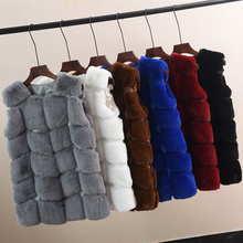 Faux Fur Coat Winter Women 2018 Casual Warm Sleeveless Faux Fox Fur Vest Winter Jacket Coat Ladies Plus Size 4XL