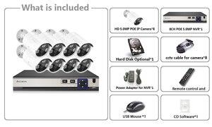 Image 4 - 8 sztuk wodoodporna kamera typu bullet 5MP bezpieczeństwa w domu kamery IP 8CH netto DVR System Poe CCTV zestaw do nadzorowania czarny darmowa