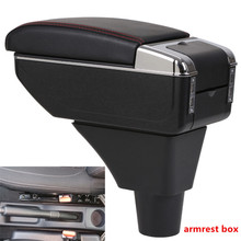 For Dacia sandero armrest box USB Charging heighten Double layer central Store content cup holder ashtray accessories