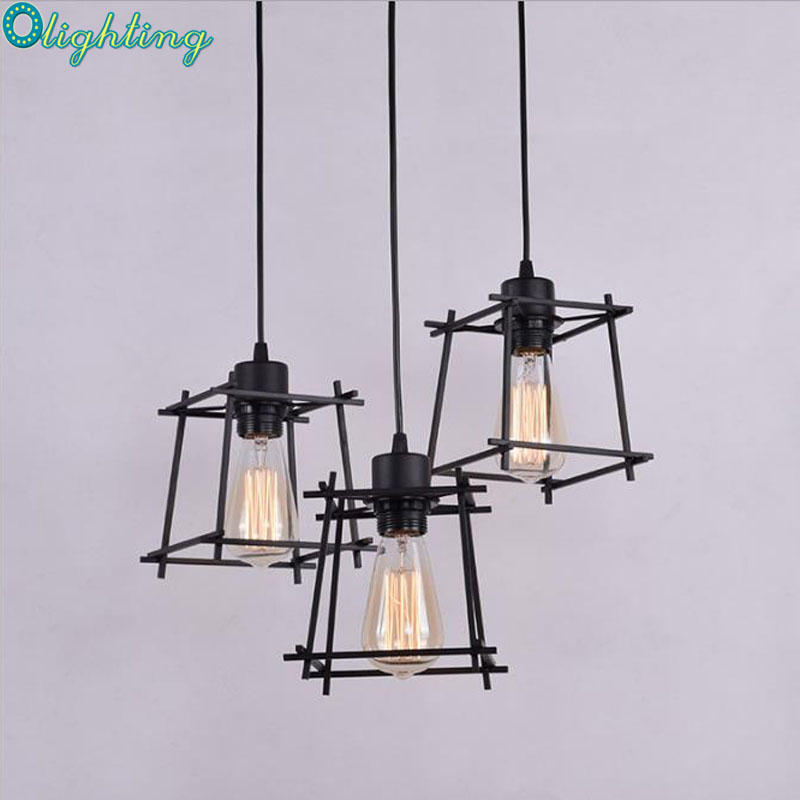 Nordic Vintage America Style Pendant Lights Loft Lamp Industrial Black Antique Creative For Home Morden Iron Lighting Decoration 6 heads e27 sockets nordic industrial edison chandelier vintage pendant lamp loft antique adjustable diy home lighting w o bulb