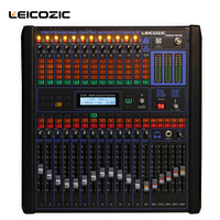 Leicozic 12 channel professional digital mixer professional audio mixer dj mixer console Digital Output sound mixer for stage