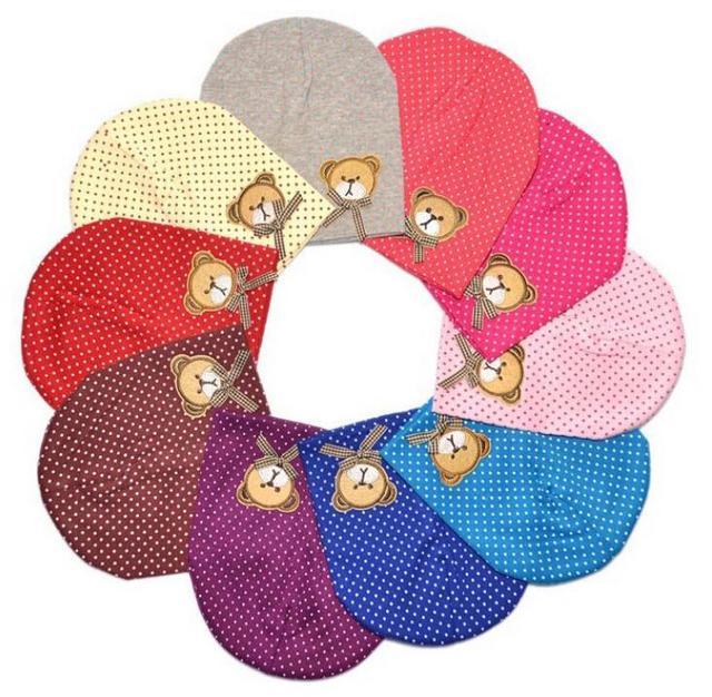 1 Pcs Cute Winter Autumn Newborn Crochet warm Cotton beanie Baby Hat Girl Boy Cap Children Bear Infant Kids Clothes 1