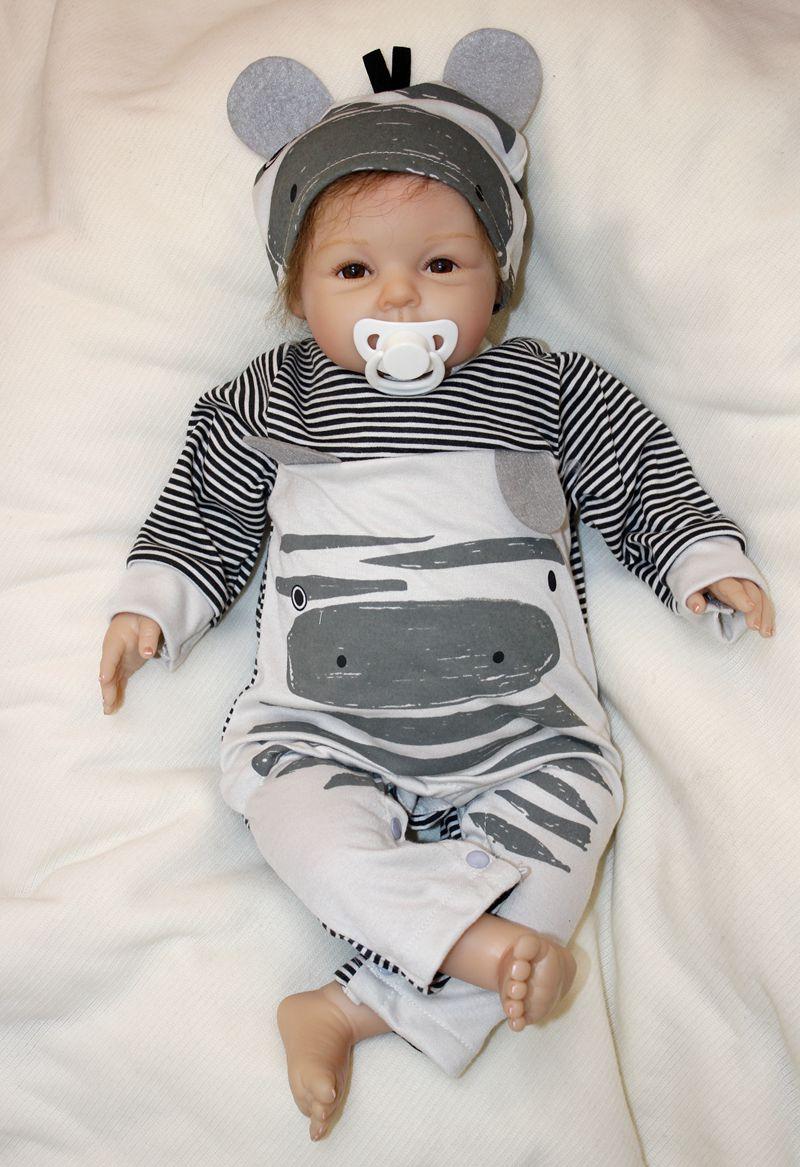 Dollmai 22 Quot 55cm Reborn Baby Boy Dolls Silicone Newborn