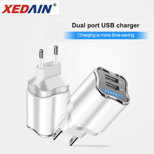 Quick Good Charger LED 5V/2.1A EU/US 2 Ports Plug USB Charger Micro Cable For Samsung Huawei Xiaomi Vivo Android Phone Chargers(China)