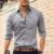 Marca famosa camisa business casual camisa de algodão dos homens camisas de manga longa homens sólida fino plus size 2XL 2016 nova camisa sociais masculina