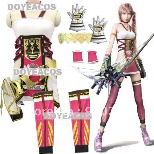 final fantasy 13 2 ff13 2 sierra serah farron cosplay costume halloween wholesale retail