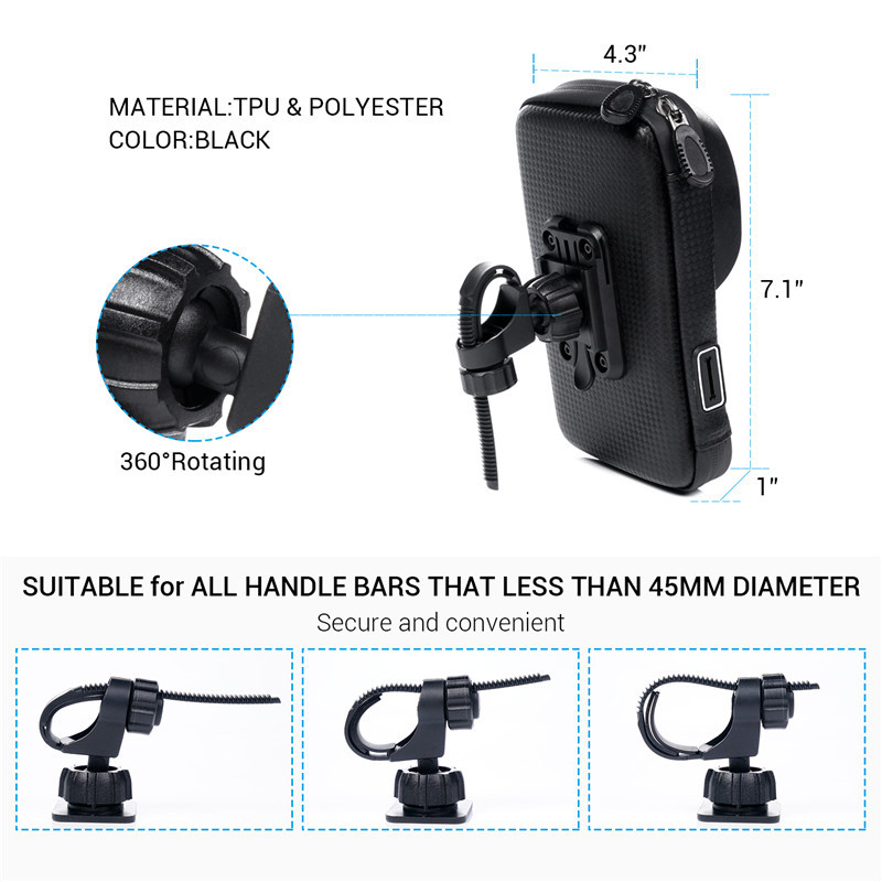 Waterproof Motorcycle Phone Mount 1