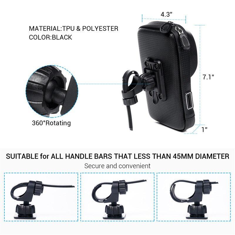 Waterproof Motorcycle Phone Mount 1