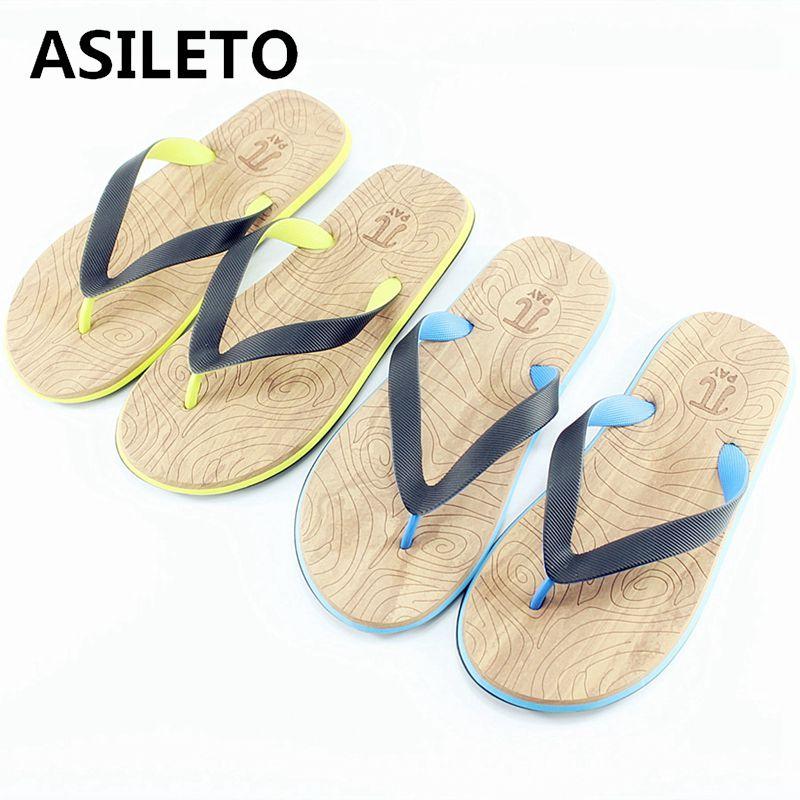 Asileto Sommer Schuhe Männer Frauen Hausschuhe Außerhalb Flip-flops Für Männer Vintage Indoor & Outdoor Casual Strand Sandalen Rutschen Zapatos671