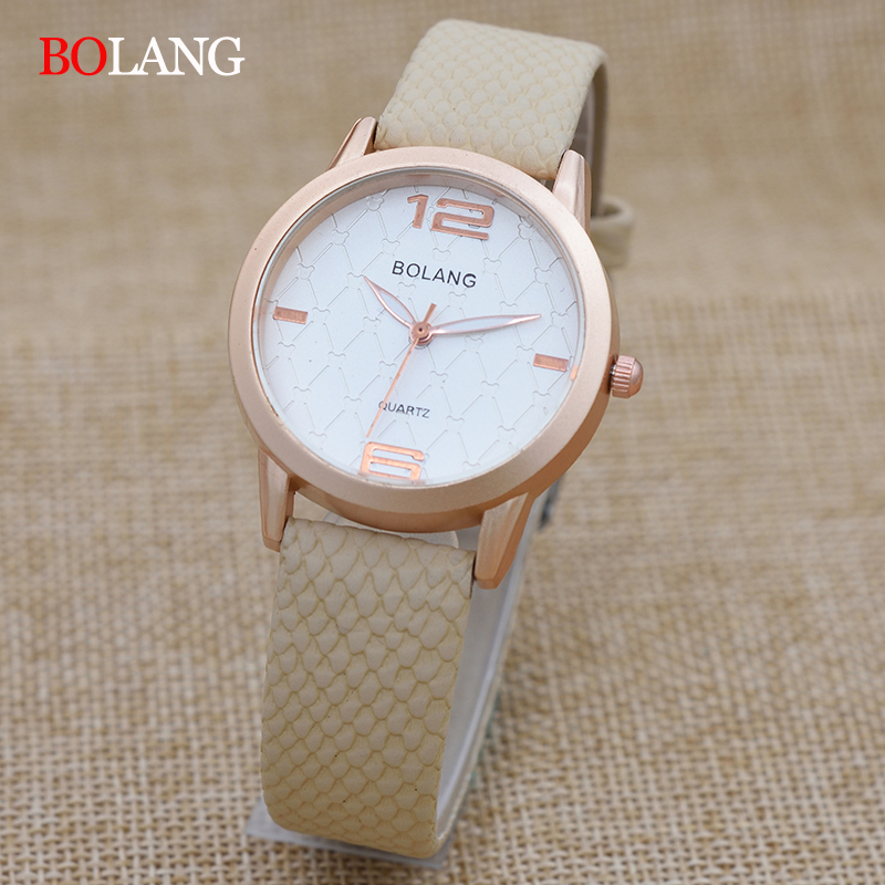 BOLANG Brand Fashion Women Watch Leather Band Small Dial Dress Ladies Watch Elegant Quartz Clock  Relogio Feminino montre femme quartz watch with small diamond dots indicate leather watch band hearts pattern dial for women