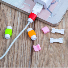 1PCS Cable Saver Protector Silicone Case for Apple iPhone X XS Max XR 6 6S 7 8 Plus 5 5S SE 10 Mobile Phone accessories(China)
