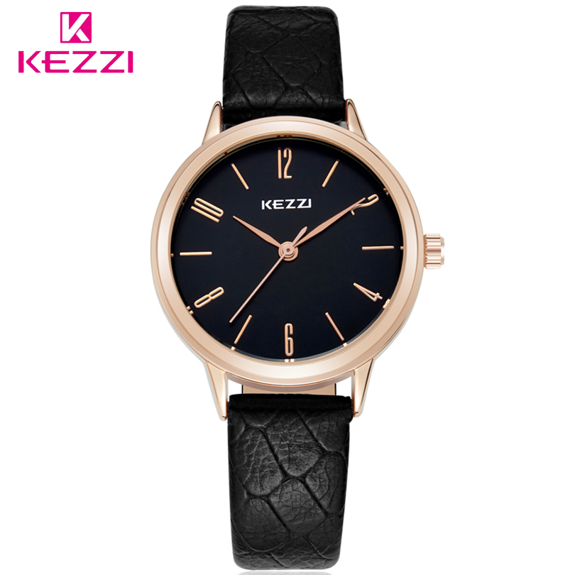 KEZZI Brand High Quality Quartz Watches Leather Strap Wristwatches Fashion Women Watch Ladies Wrist Watch Men Casual Gift Clocks high quality brand leather casual watch women ladies fashion dress quartz wristwatches roman numerals watches men gift unisex