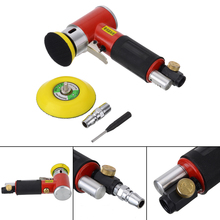 50mm Mini Sander Pneumatic Tools for Auto Body Work with 2 3 Polishing Pads Sponge Waxing Kit Polisher
