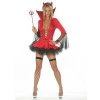 VASHE Sexy Devil Witch Costume for Adult Women Halloween Carnival Party Woman Fancy Dress