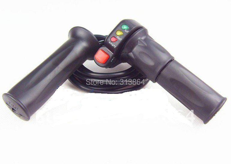 Высокое качество Wuxing бренд 48 в E-bike половина поворот дроссельной заслонки с индикатором батареи+ курсирующий переключатель управления