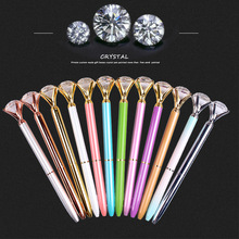 10pcs /lot New metal multi-color student gift advertising pen  creative crystal ballpoint