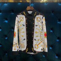 WRD0663BJ модные Для мужчин рубашки 2018 люксовых брендов Европейского дизайна Повседневное Для мужчин Костюмы