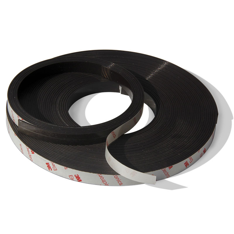 Free Shipping 2 Meters self Adhesive Flexible Magnetic Strip 3M Rubber Magnet Tape width12 7mm thickness