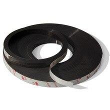 Envío Gratis 2 Metros autoadhesivas Banda Magnética Flexible 3 M Cinta Imán de Goma width12.7mm espesor 1.5mm