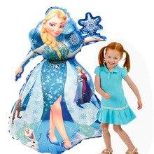 93*55 см большие Белль Эльза Аврора Золушка Белоснежка Принцесса фольгированные шары Детские украшения на день рождения Детские гелиевые шары