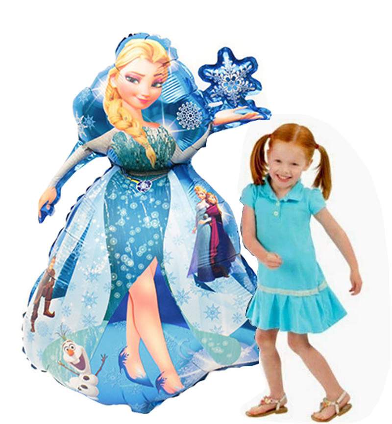 93*55cm Large Belle Elsa Aurora Cinderella Snow White Princess Foil Balloons Baby Birthday Party Decoration Kids Helium Balloons