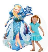 93*55cm גדול בל אלזה אורורה סינדרלה שלג לבן נסיכה לסכל בלוני קישוט תינוק מסיבת ילדים הליום בלוני|בלונים ואביזרים|בית וגן -