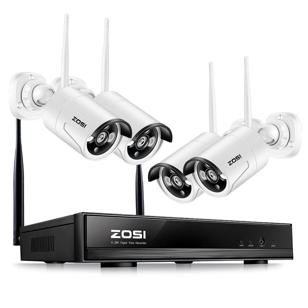ZOSI 1.3MP Plug and Play Беспроводной NVR комплект P2P 960 P/720 P HD Открытый ИК Ночное Видение безопасности IP камера WI-FI CCTV Системы