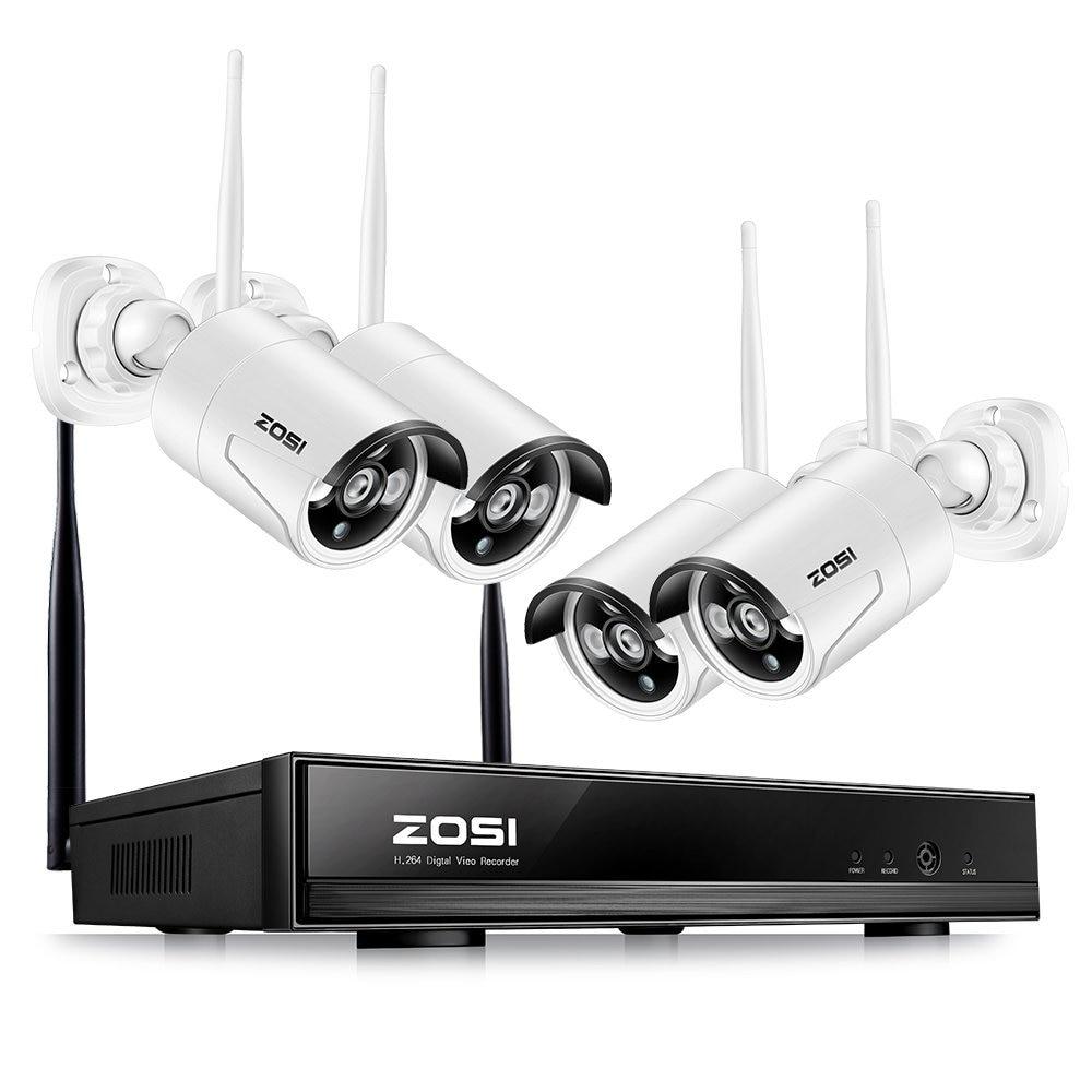 ZOSI 1.3MP Plug and Play Sans Fil kit nvr P2P 960 P/720 P HD Extérieure IR vision nocturne de Sécurité Caméra IP WIFI système cctv