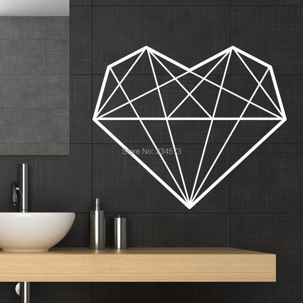 Buy hot geometric heart love wall art for Geometric wall art diy