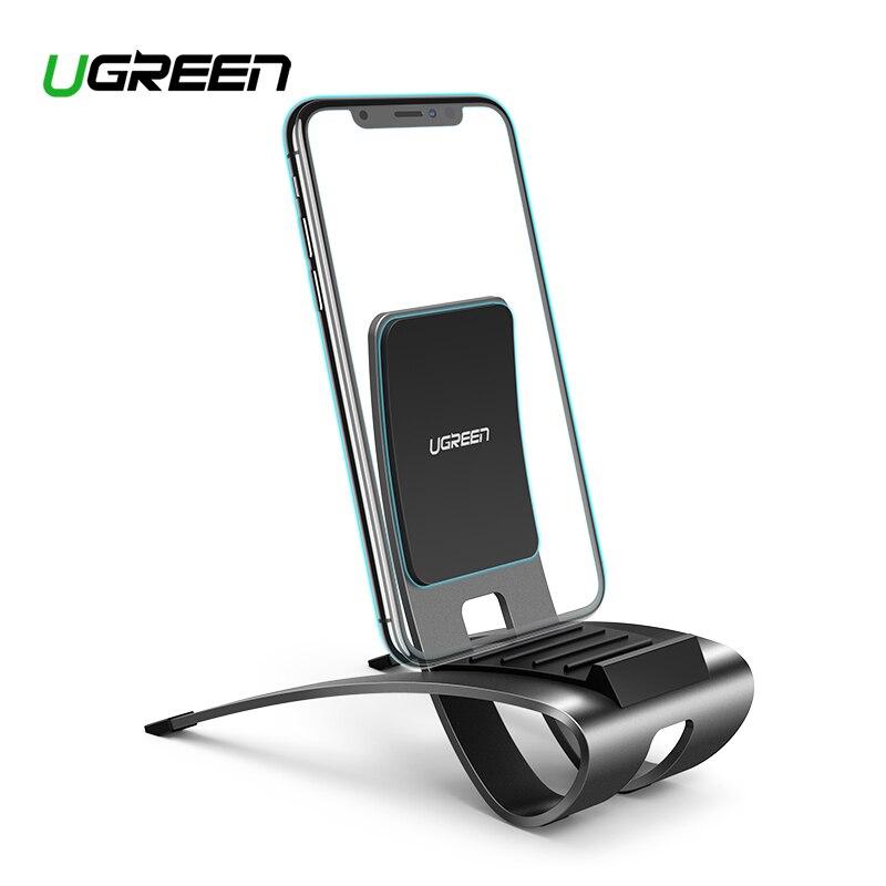 Ugreen soporte de teléfono móvil de Metal de aluminio sillón reclinable perezoso soporte para teléfono celular para iPhone Samsung Galaxy S10 escritorio teléfono soporte