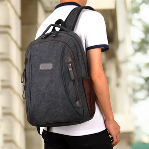 Image 3 - Men Canvas Laptop Backpacks Male College Students School Backpack Casual Rucksacks Women Mochila Large Travel Back Pack XA1937C