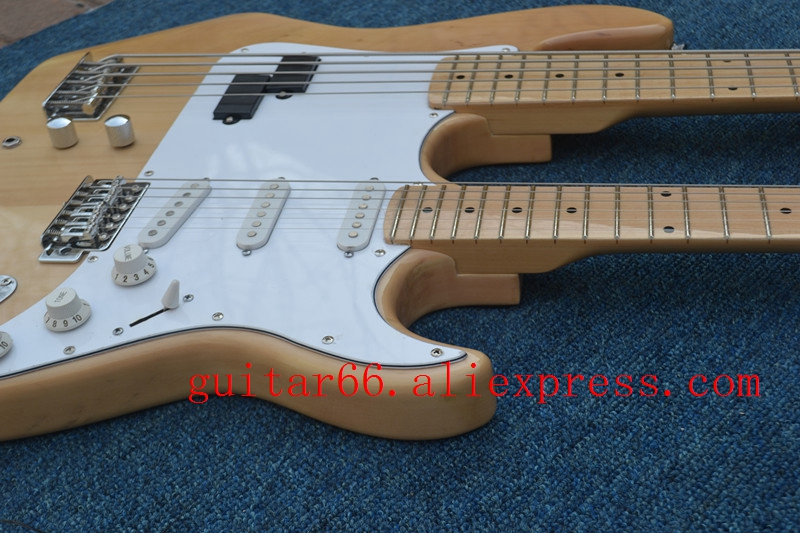 Electric-Guitar Bass Basswood-Body Double-Neck 5-String And BJ130