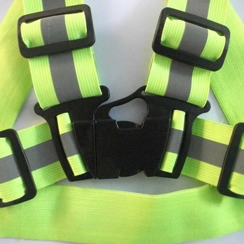 Прямая поставка световая Светоотражающая эластичная одежда высокая видимость унисекс Открытый жилет безопасности с ремнем подходит для бега велокросса занятия спортом на открытом воздухе