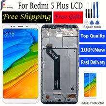 Lcd para xiaomi redmi 5 plus display lcd com moldura + tela de toque para redmi 5 plus display lcd 2160*1080 ips