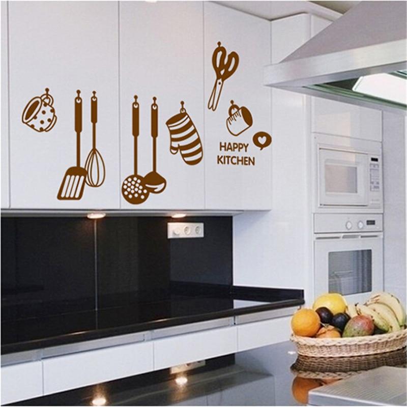 New rimovibile creativo FAI DA TE adesivi utensile da cucina cooking ...