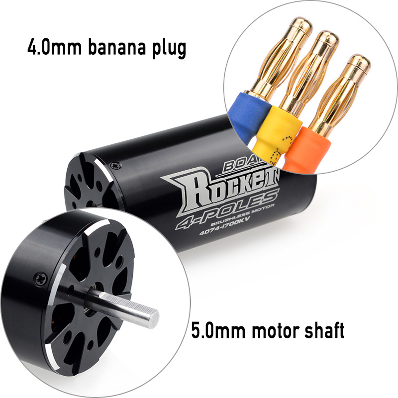 Image 4 - SURPASSHOBBY Rocket 4074 2250KV 2000KV 1700KV 4P Brushless Motor for Traxxas M41 Catamaran Spartan 1000mm(or Above) RC Boat Car-in Parts & Accessories from Toys & Hobbies