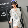 5 6 7 8 9 10 11 12 13 14 15 Year Teenager Shirt Dress Girls T-shirt Spring Long Sleeve Letter Print School Uniforms For Girls