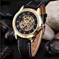 ShenHua Mens Relógios Top Marca de Luxo de Ouro Esqueleto Mecânico Automático do Relógio De Pulso Dos Homens À Prova de Choque À Prova D' Água relogio masculino