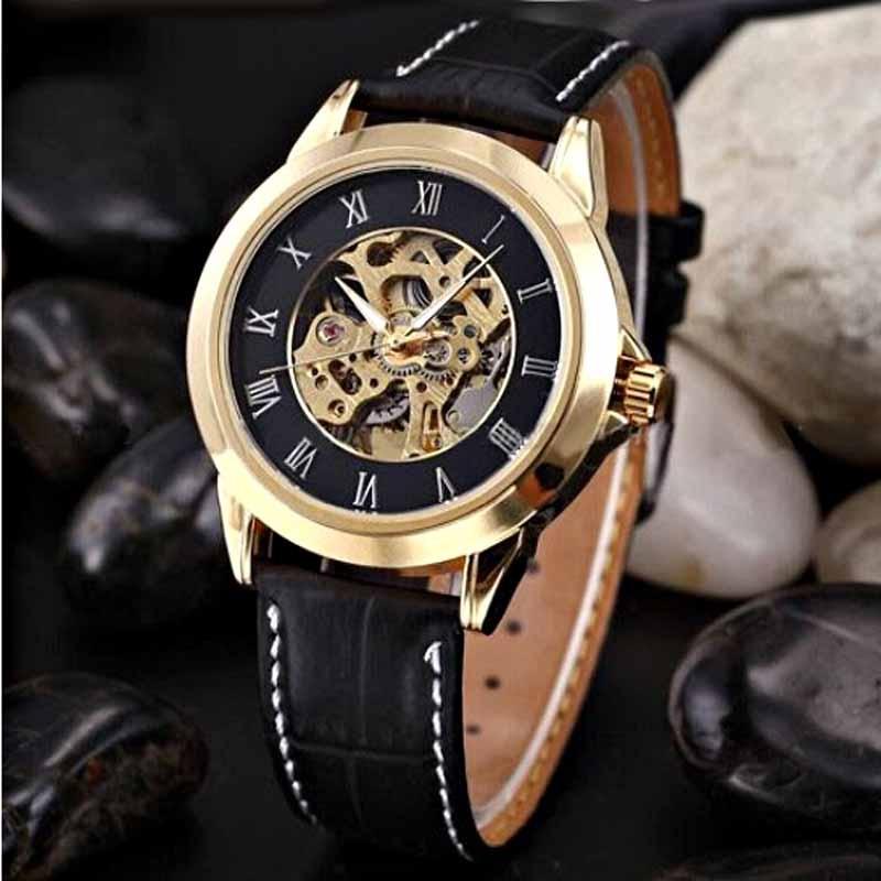 Shenhua Mens Watches Jenama Mewah Emas Jam Tangan Automatik Mekanikal - Jam tangan lelaki - Foto 1
